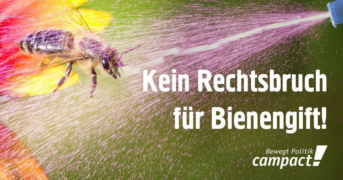 Kein Rechtsbruch für Bienengift